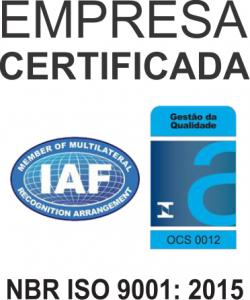 CERTIFICAÇÃO NBR ISO 9001: 2015